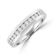 18ct White Gold 15-stone Diamond Wedding Ring