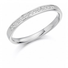 18ct White Gold Princess cut .20ct Diamond Wedding Ring