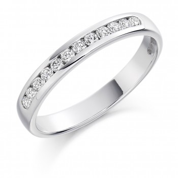18ct White Gold 12-stone Diamond Wedding Ring