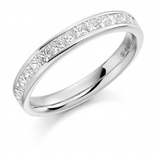 18ct White Gold 16-stone Princess cut Diamond Wedding Ring