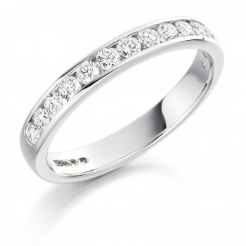 18ct White Gold 14-stone Diamond Wedding Ring