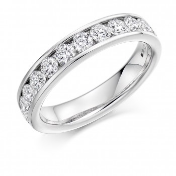 18ct White Gold Diamond Channel set Eternity Ring