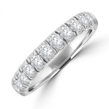 18ct White Gold 15-stone Diamond Eternity Ring