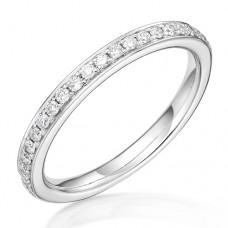 18ct White Gold .18ct Diamond Grain set Wedding / Eternity Ring