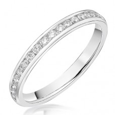 18ct White Gold .33ct Diamond Channel Wedding / Eternity Ring