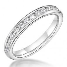 18ct White Gold .41ct Diamond Channel Wedding / Eternity Ring