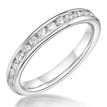 18ct White Gold .41ct Diamond Channel Wedding / Eternity Ring