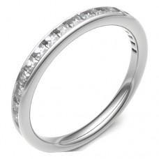 18ct White Gold Princess .42ct Diamond Eternity / Diamond Ring