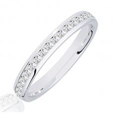18ct White Gold .50ct Princess cut Diamond Wedding Ring