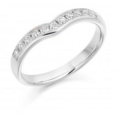 18ct White Gold grain set Diamond Wishbone Eternity Ring