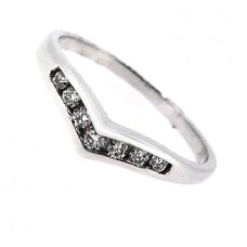 18ct White Gold Diamond Wishbone Wedding/Eternity Ring