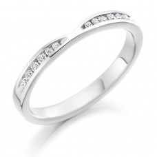 18ct White Gold Bow Shaped Diamond Wedding Ring