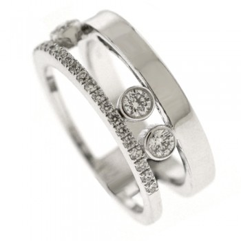 18ct White Gold Floating Bubble Diamond Eternity Ring