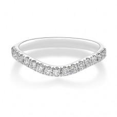 Platinum Wishbone .22ct Diamond Castle Wedding Ring