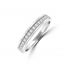 9ct White Gold Pave set Diamond Eternity Ring