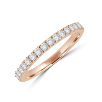 18ct Rose Gold Castle set Diamond Eternity Ring