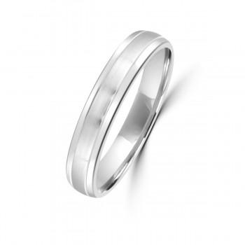 Platinum 4mm Polished/Satin Wedding Ring