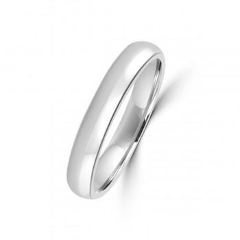 Platinum 3mm Soft Court Wedding Ring