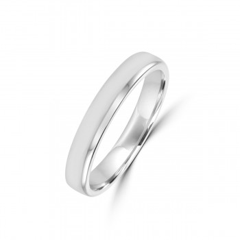 Platinum 3mm Soft Court Wedding Ring
