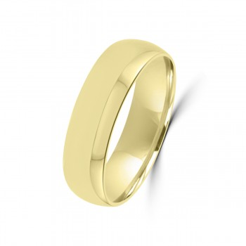 18ct Yellow Gold 6mm Bevelled Edge Wedding Ring