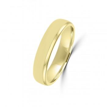 18ct Yellow Gold 4mm Flat Wedding Ring