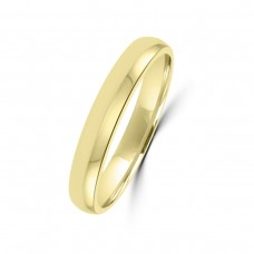 18ct Yellow Gold 3mm Soft Court Wedding Ring