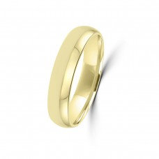 9ct Yellow Gold Plain 5mm Wedding Ring