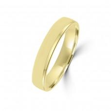 9ct Yellow Gold Plain 4mm Wedding Ring