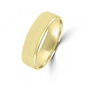 9ct Yellow Gold Plain 6mm Wedding Ring