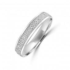 9ct White Gold Celtic Wedding Ring