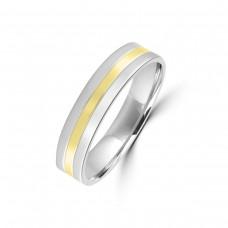 9ct White/Yellow Gold 5mm Wedding Ring