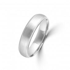9ct White Gold 5mm Plain Wedding Ring