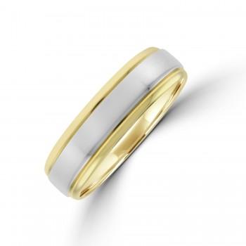 9ct Gold 6mm Wedding Ring with Palladium Sleeve