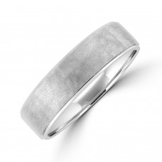 Platinum 6mm Court Brushed Hammered Wedding Ring