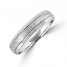 Platinum 5mm Court Polished/Brushed Wedding Ring