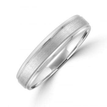 Palladium 5mm Court Polished/Brushed Wedding Ring