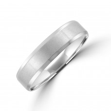 Platinum  5mm Bevelled Edge Wedding Ring