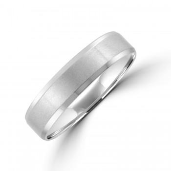 Palladium 5mm Bevelled Edge Wedding Ring