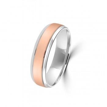 9ct Rose / Palladium 950 6mm Wedding Ring