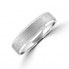 Palladium 500 5mm Court Brushed Bevelled Edge Wedding Ring