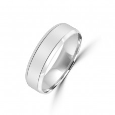 Palladium 950 Lined 6mm Wedding Ring