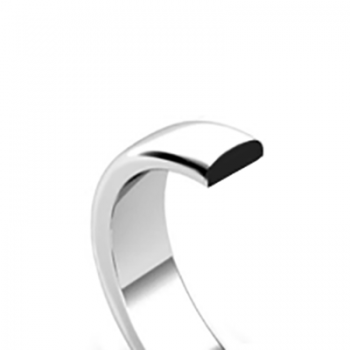 D-Shaped Wedding Band