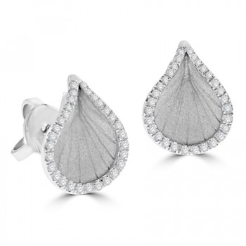 18ct White Gold Diamond Cammilli Stud Earrings