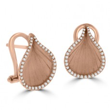 18ct Rose Gold Diamond Cammilli Stud Earrings