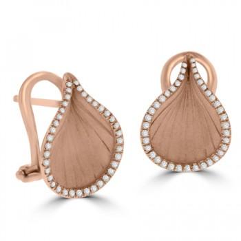 18ct Rose Gold Diamond Cammilli Stud Earrings