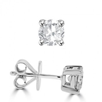 18ct White Gold 1.00ct Diamond Stud Earrings