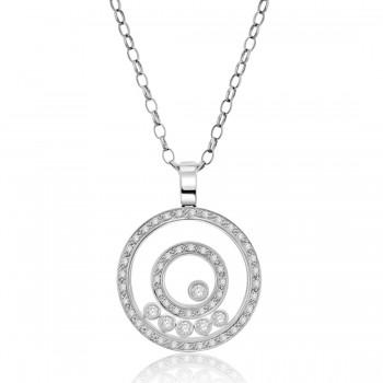 18ct White Gold Diamond Circle of Life Raindance Pendant