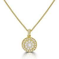 18ct Gold Diamond Mirage Pendant Chain
