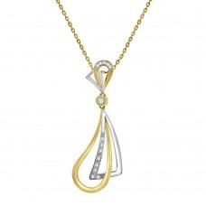18ct Yellow & White Gold Diamond Kite & Pear Pendant