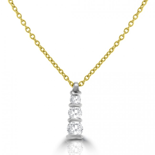 Gold diamond trilogy pendant chain 18ct gold diamond trilogy pendant chain audiocablefo light Images
